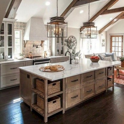 Elegant Farmhouse Kitchen Design Decor Ideas07