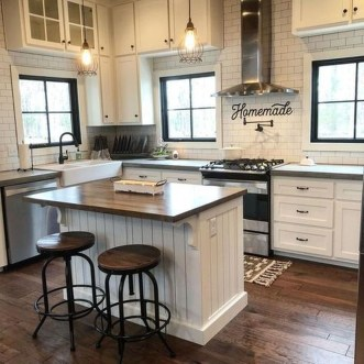 Elegant Farmhouse Kitchen Design Decor Ideas26