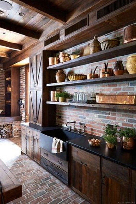 Elegant Farmhouse Kitchen Design Decor Ideas45