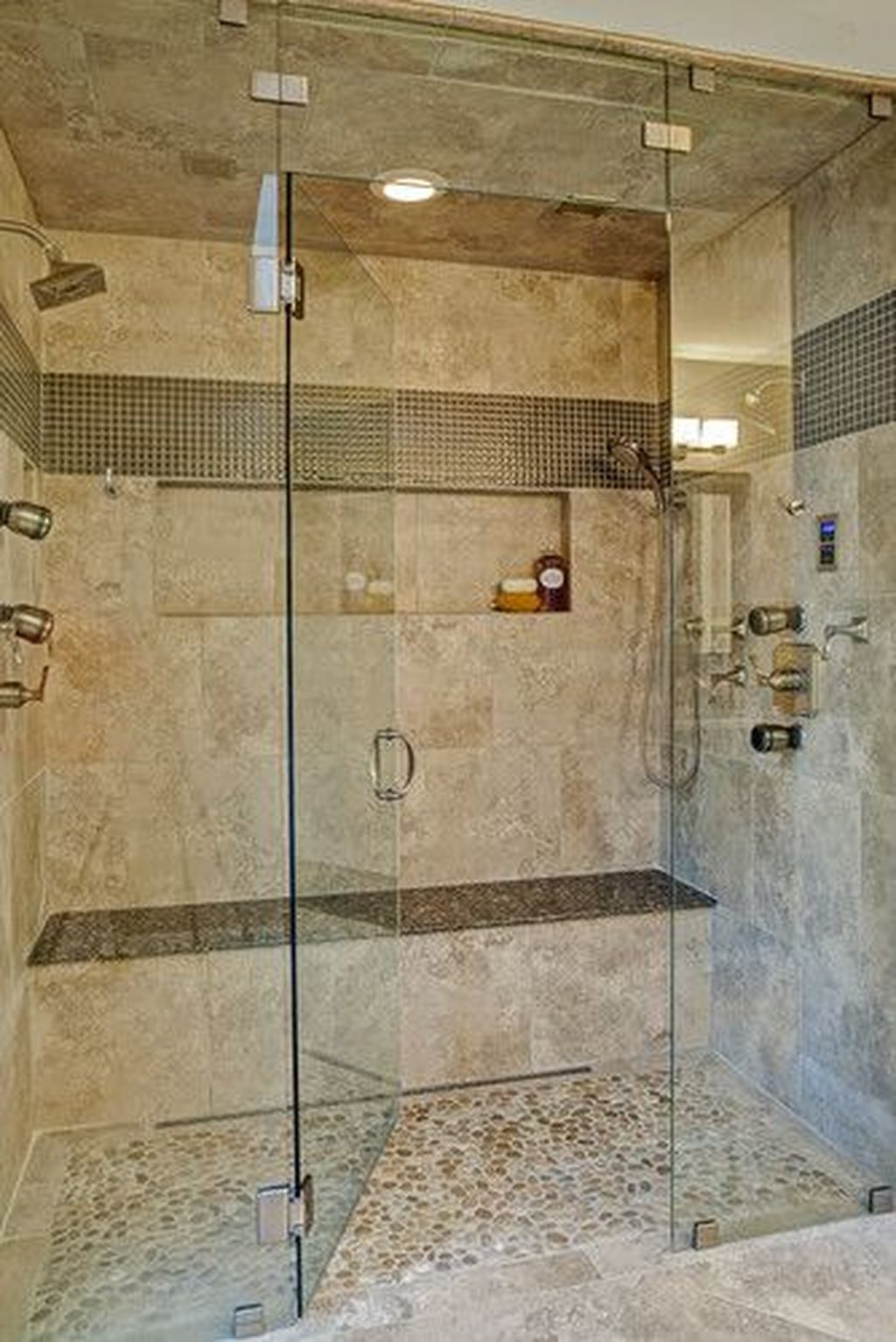 Incredible Curbless Shower Ideas For House07