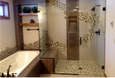 Incredible Curbless Shower Ideas For House17