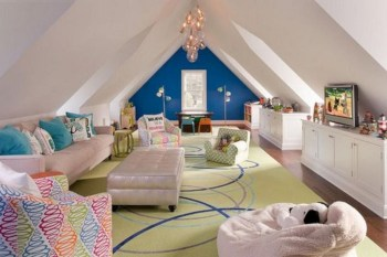 Affordable Attic Kids Room Decor Ideas02