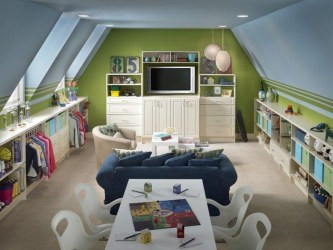 Affordable Attic Kids Room Decor Ideas08