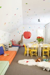 Affordable Attic Kids Room Decor Ideas12