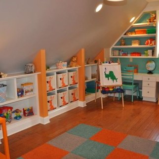 Affordable Attic Kids Room Decor Ideas35
