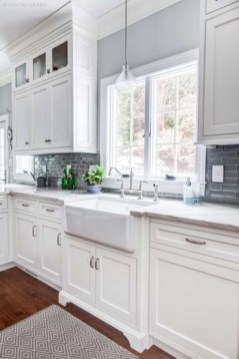 Captivating White Cabinets Design Ideas For Kitchen08