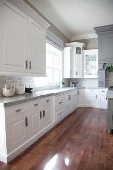 Captivating White Cabinets Design Ideas For Kitchen15