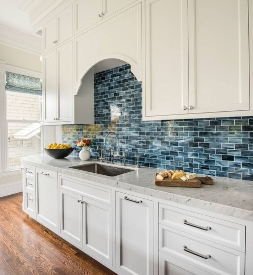 Captivating White Cabinets Design Ideas For Kitchen31