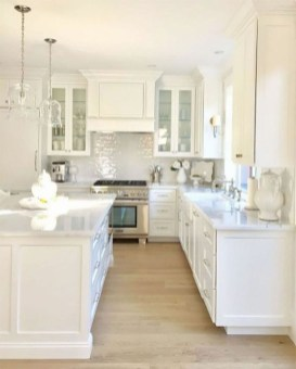 Captivating White Cabinets Design Ideas For Kitchen36