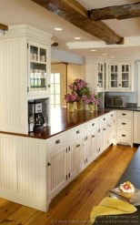 Captivating White Cabinets Design Ideas For Kitchen37