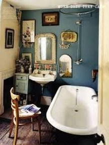 Cute Bohemian Style Decorating Ideas For Bathroom02