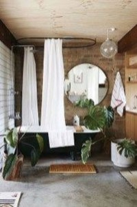 Cute Bohemian Style Decorating Ideas For Bathroom11
