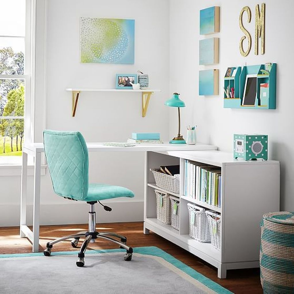 20+ Cute Study Room Ideas For Teens - TRENDEDECOR on Rooms For Teenagers  id=75432