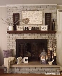 Modern Brick Fireplace Decorations Ideas For Living Room18