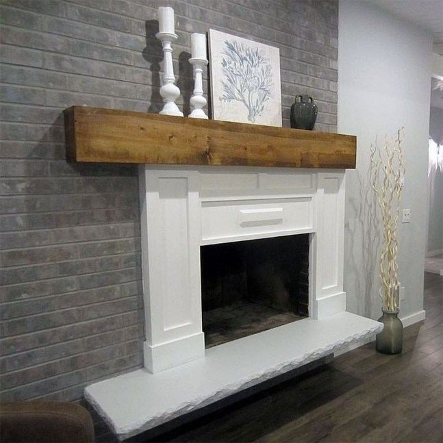 Modern Brick Fireplace Decorations Ideas For Living Room31