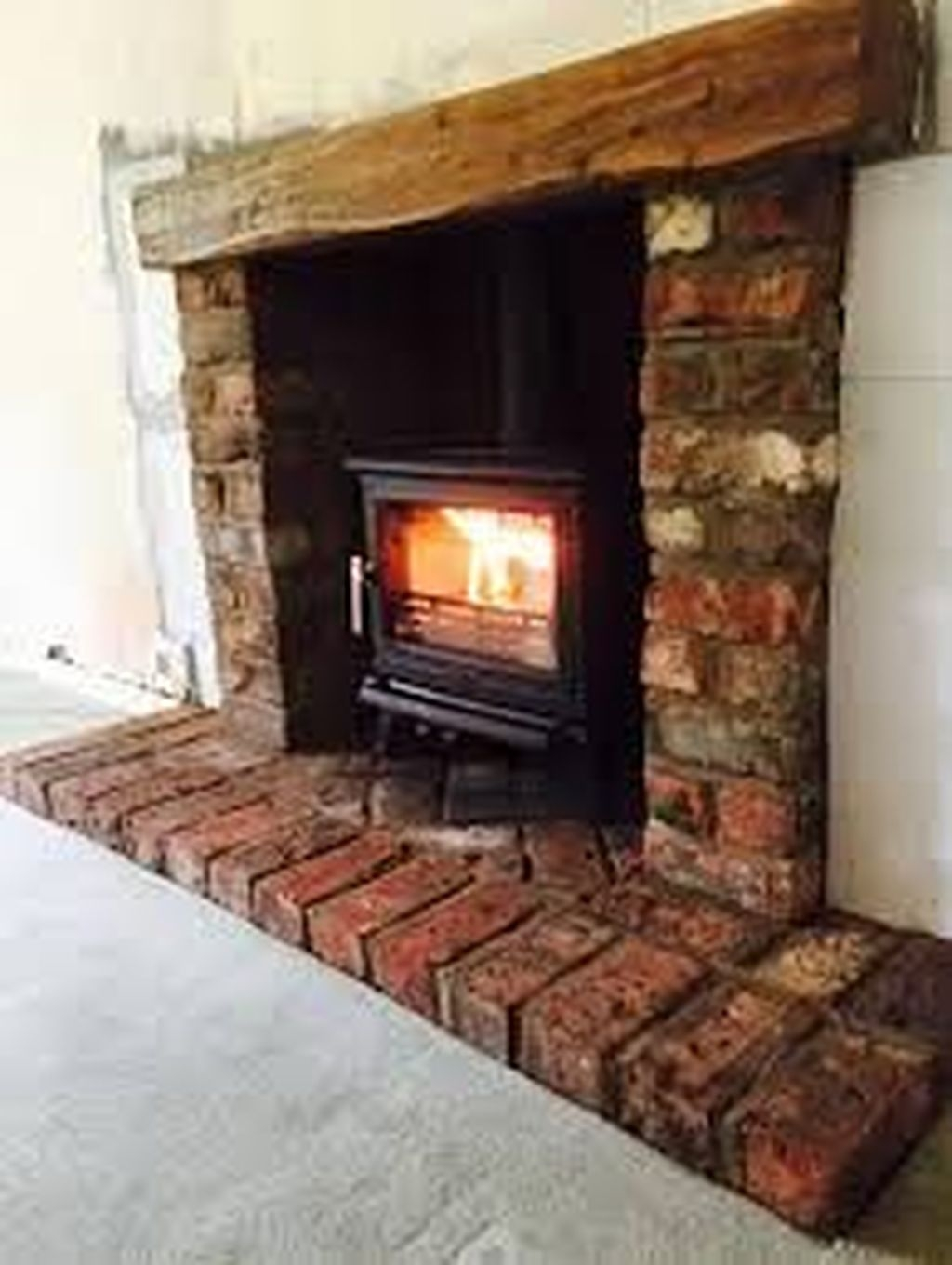 Modern Brick Fireplace Decorations Ideas For Living Room43