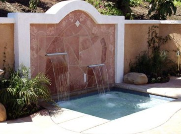 Stylish Outdoor Water Walls Ideas For Backyard16