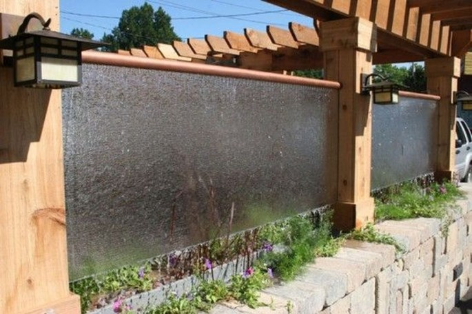 Stylish Outdoor Water Walls Ideas For Backyard45
