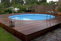 Affordable Ground Pool Landscaping Ideas25