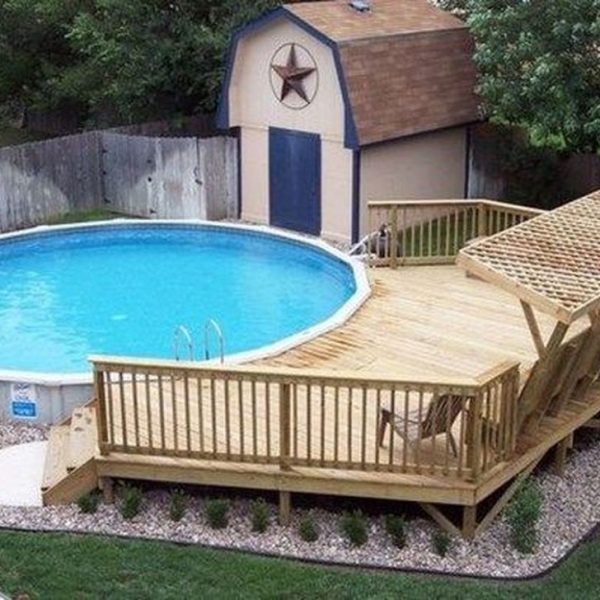 Affordable Ground Pool Landscaping Ideas26