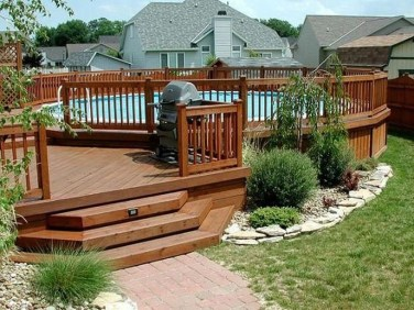 Affordable Ground Pool Landscaping Ideas30