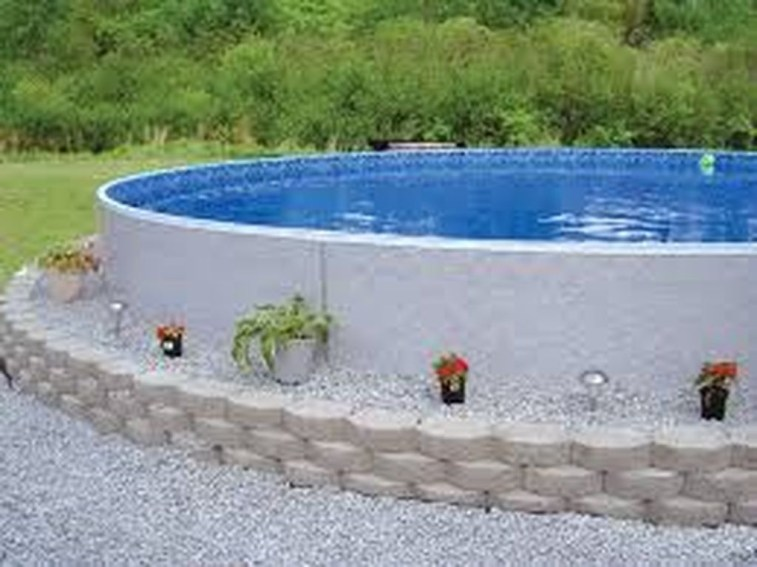 Affordable Ground Pool Landscaping Ideas31