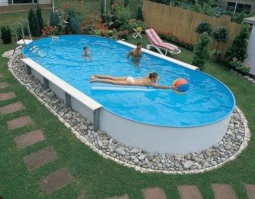 Affordable Ground Pool Landscaping Ideas40
