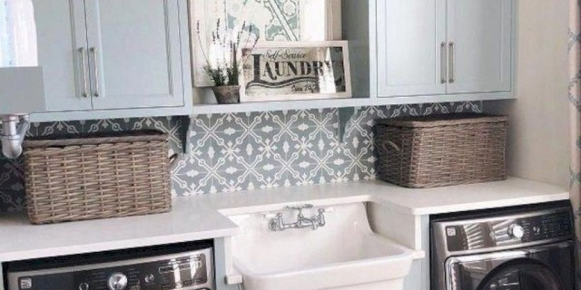 Popular Farmhouse Laundry Room Design Ideas31