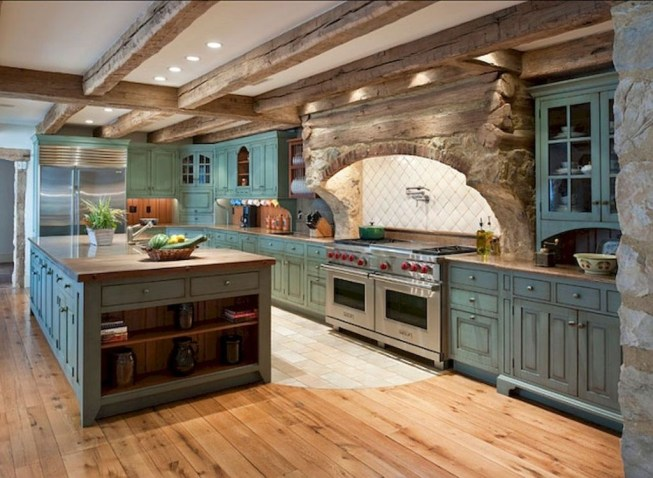 Pretty Farmhouse Kitchen Design Ideas To Get Traditional Accent47