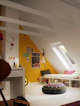 Unusual Attic Room Design Ideas25