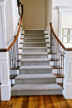 Beautiful Color Ideas For Your Stairs Decoration18