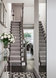 Beautiful Color Ideas For Your Stairs Decoration29