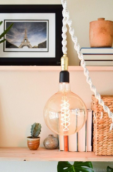 Captivating Diy Lighting Ideas For Small Apartment32