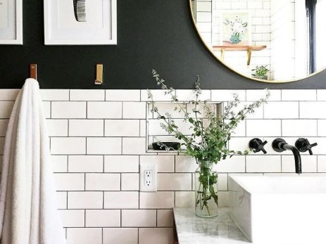Catchy Subway Tiles Application Ideas For Bathroom16