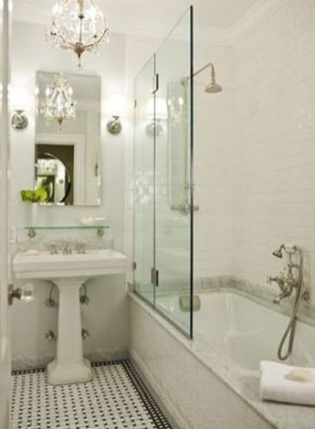 Catchy Subway Tiles Application Ideas For Bathroom27