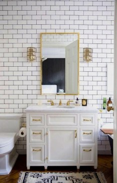 Catchy Subway Tiles Application Ideas For Bathroom30