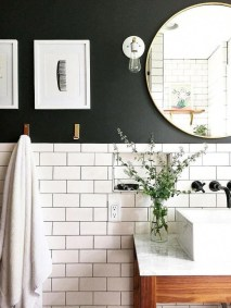 Catchy Subway Tiles Application Ideas For Bathroom37
