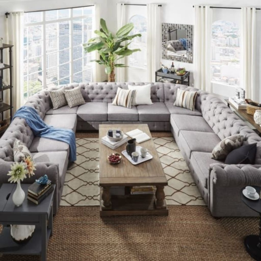 Comfortable Sutton U Shaped Sectional Ideas For Living Room29