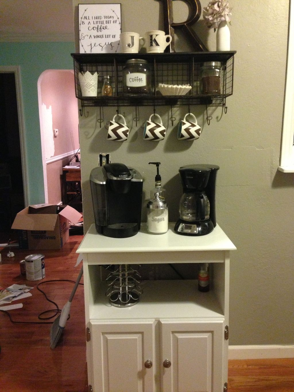 Latest Diy Coffee Station Ideas In Your Kitchen17