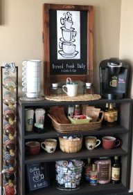 Latest Diy Coffee Station Ideas In Your Kitchen31