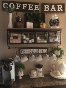Latest Diy Coffee Station Ideas In Your Kitchen33