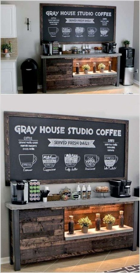 Latest Diy Coffee Station Ideas In Your Kitchen38