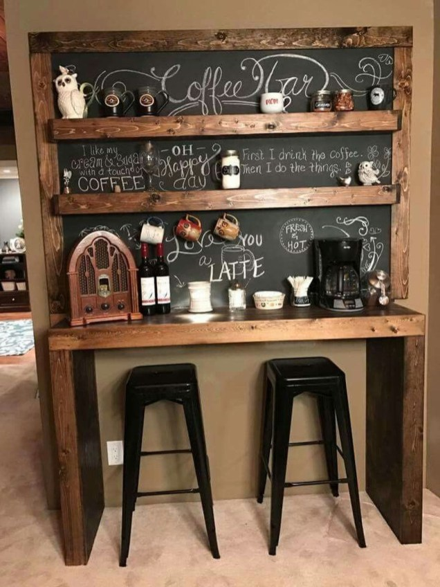 Latest Diy Coffee Station Ideas In Your Kitchen42
