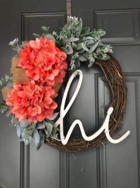 Pretty Front Door Wreath Ideas17