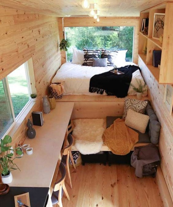 Rustic Tiny House Design Ideas With Two Beds08