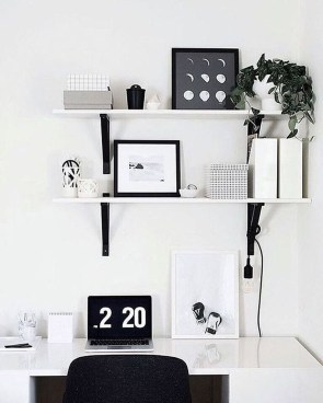 Splendid Monochrome Home Office Decor Ideas To Apply Asap06
