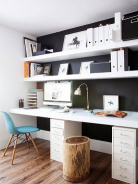 Splendid Monochrome Home Office Decor Ideas To Apply Asap09