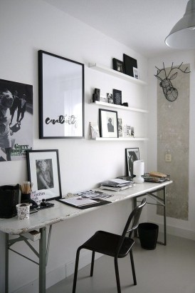 Splendid Monochrome Home Office Decor Ideas To Apply Asap16