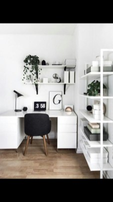 Splendid Monochrome Home Office Decor Ideas To Apply Asap44