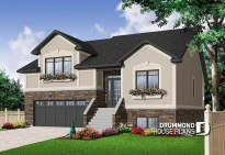 Astonishing House Design Ideas With With Car Garage40